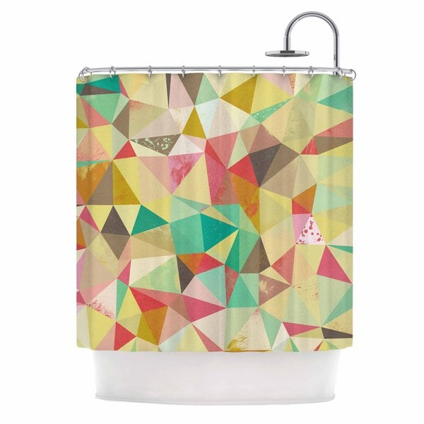 KESS InHouse Nic Squirrell Shards Multicolor Digital Shower Curtain (69x70)