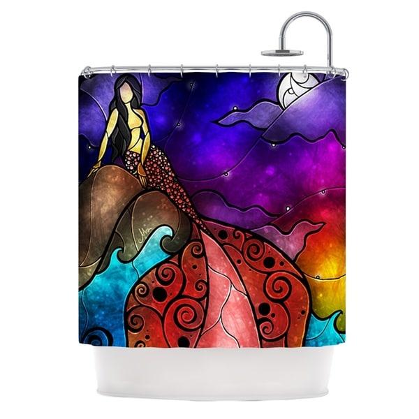 KESS InHouse Mandie Manzano Fairy Tale Mermaid Shower Curtain (69x70)