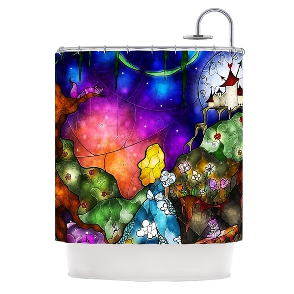KESS InHouse Mandie Manzano Fairy Tale Alice in Wonderland Shower Curtain (69x70)