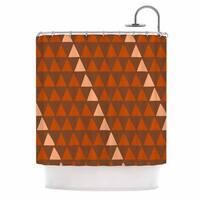 KESS InHouse Matt Eklund Overload Autumn Brown Orange Shower Curtain (69x70)