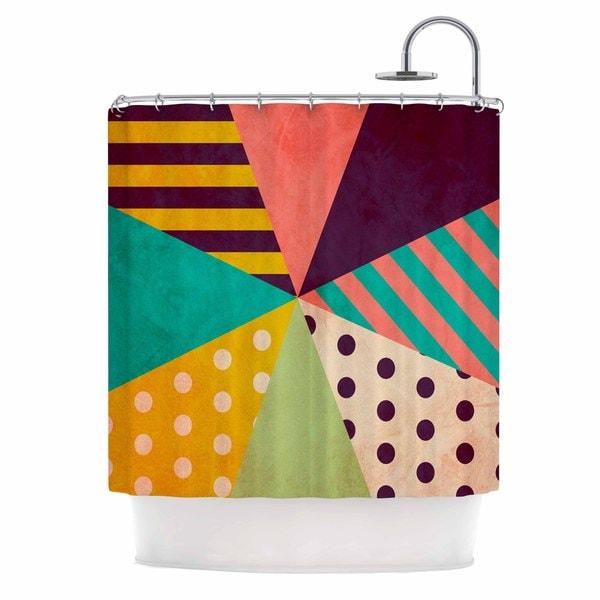 KESS InHouse Louise Machado Umbrella Purple Orange Shower Curtain (69x70)