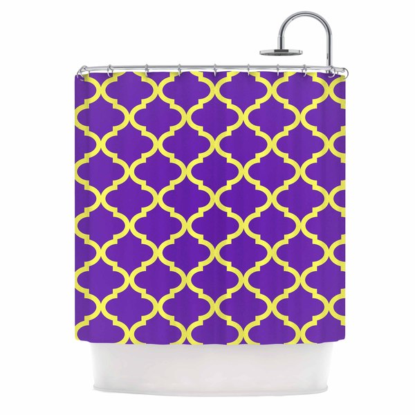 KESS InHouse Matt Eklund Culture Shock Yellow Purple Shower Curtain (69x70)