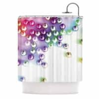KESS InHouse Louise Machado Pearl Magenta Purple Shower Curtain (69x70)