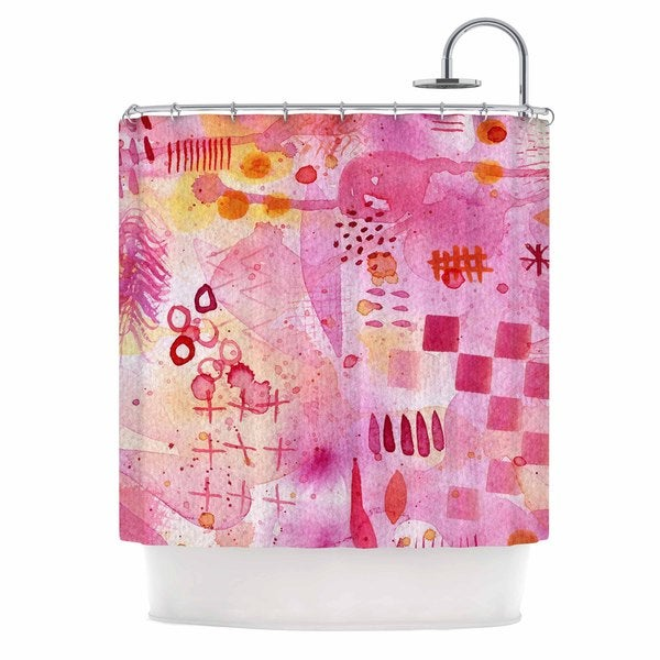 KESS InHouse Nic Squirrell Sweet Dreams Pink Abstract Shower Curtain (69x70)