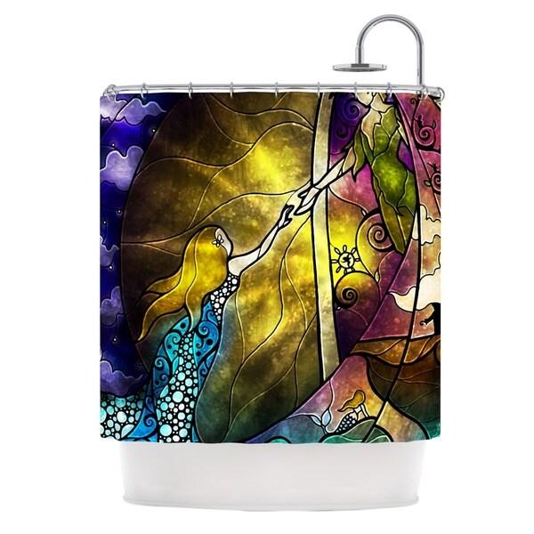 KESS InHouse Mandie Manzano Fairy Tale off to Neverland Shower Curtain (69x70)
