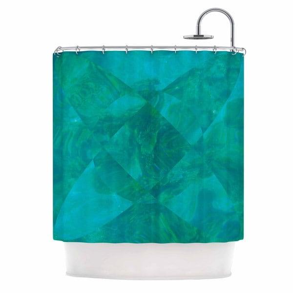 KESS InHouse Matt Eklund Under The Sea Teal Green Shower Curtain (69x70)