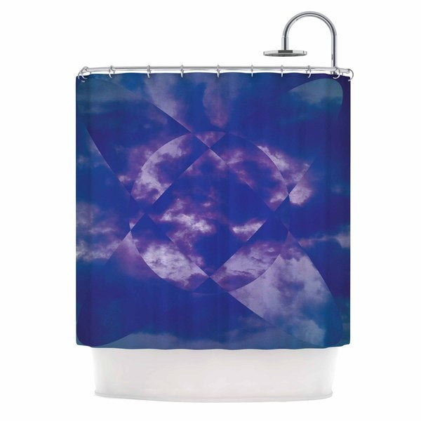 KESS InHouse Matt Eklund Spectral Purple Blue Shower Curtain (69x70)
