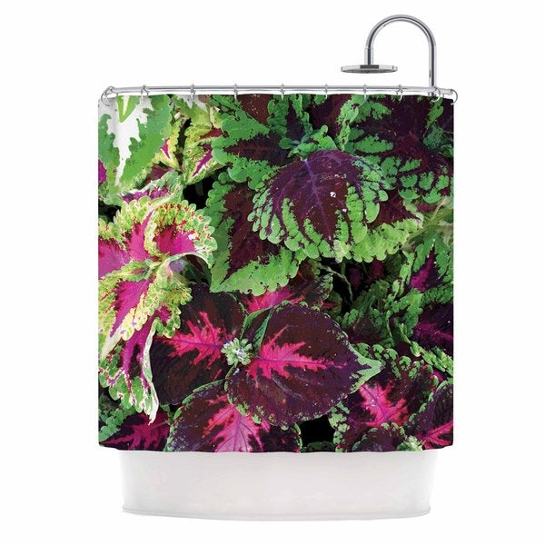 Shop KESS InHouse Louise Machado Forest Green Magenta Shower Curtain 69x70