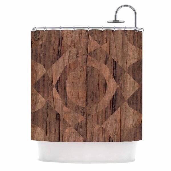 KESS InHouse Matt Eklund Indigenous Beige Brown Shower Curtain (69x70)