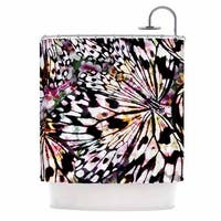 KESS InHouse Louise Machado Butterfly Wings Black White Shower Curtain (69x70)