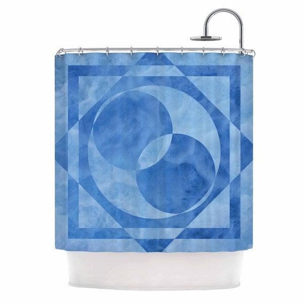 KESS InHouse Matt Eklund Seafoam Blue Geometric Shower Curtain (69x70) - 69 x 70