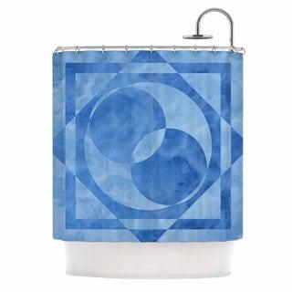 KESS InHouse Matt Eklund Seafoam Blue Geometric Shower Curtain (69x70)
