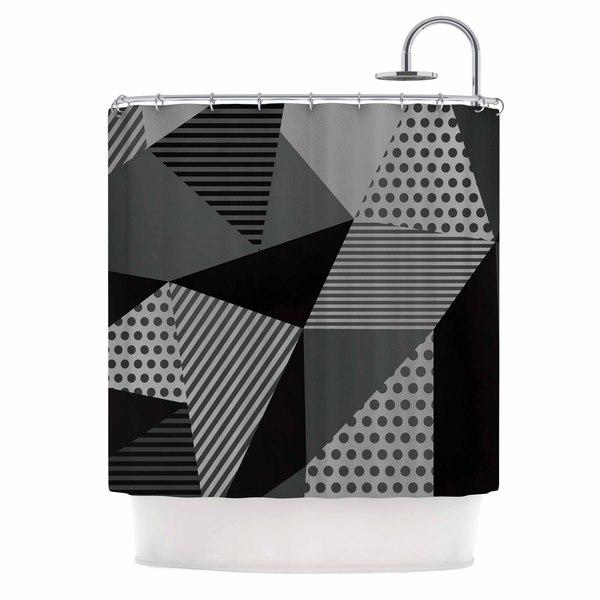 KESS InHouse Louise Machado Gray Pallete Black Gray Shower Curtain (69x70)