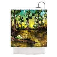 KESS InHouse Mandie Manzano Aligator Swamp Shower Curtain (69x70)