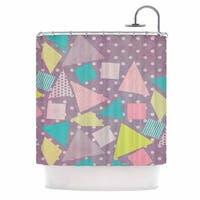 KESS InHouse Louise Machado Candy Purple Pastel Shower Curtain (69x70)