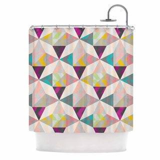 KESS InHouse Louise Machado True Diamonds Grey Pastel Shower Curtain (69x70)