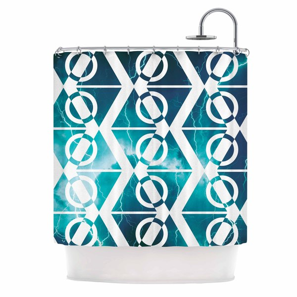 KESS InHouse Matt Eklund Storm Teal White Shower Curtain (69x70)