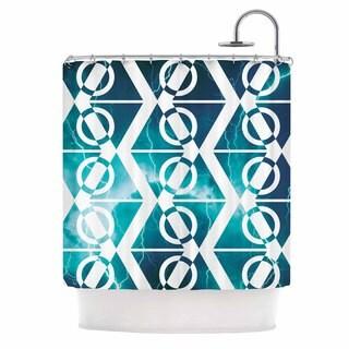KESS InHouse Matt Eklund Storm Teal White Shower Curtain (69x70)
