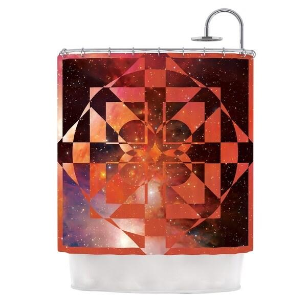 KESS InHouse Matt Eklund Galactic Hope Bittersweet Red Orange Shower Curtain (69x70)