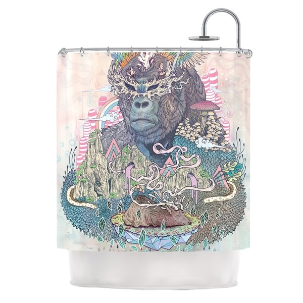 KESS InHouse Mat Miller Ceremony Fantasy Gorilla Shower Curtain (69x70)