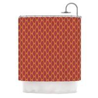 KESS InHouse Nandita Singh Marsala & Mustard Red Pattern Shower Curtain (69x70)