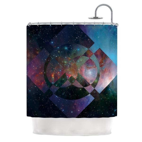KESS InHouse Matt Eklund Galactic Radiance Blue Purple Shower Curtain (69x70)