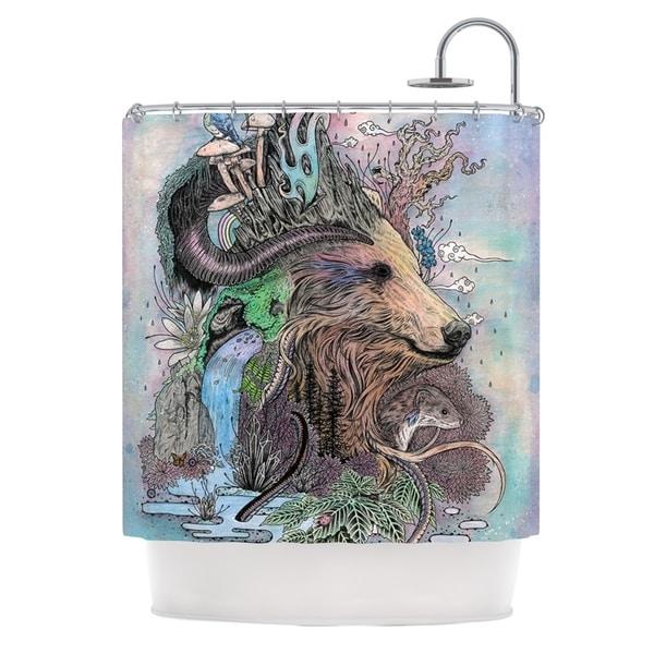 KESS InHouse Mat Miller Forest Warden Bear Nature Shower Curtain (69x70)