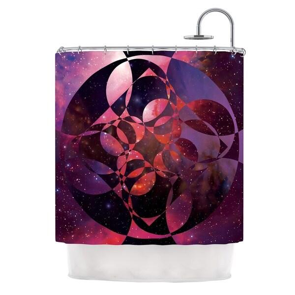 KESS InHouse Matt Eklund Galactic Brilliance Magenta Pink Purple Shower Curtain (69x70)