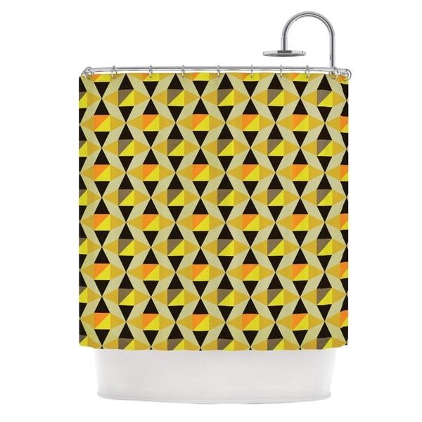 KESS InHouse Louise Machado Onyx Yellow Black Shower Curtain (69x70)