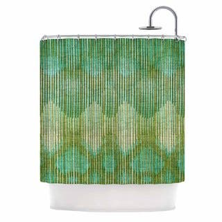 teal and gold shower curtain. KESS InHouse Michelle Drew Vintage Ikat Green Gold Shower Curtain  69x70 Abstract Curtains For Less Overstock com Vibrant Fabric