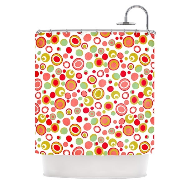 KESS InHouse Louise Machado Bubbles Warm Circles Shower Curtain (69x70)