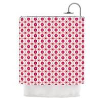 KESS InHouse Nandita Singh Floral Pink Magenta Pattern Shower Curtain (69x70)
