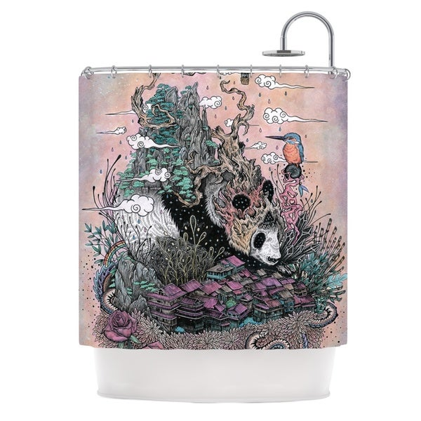 KESS InHouse Mat Miller Land of The Sleeping Giant Panda Shower Curtain (69x70)