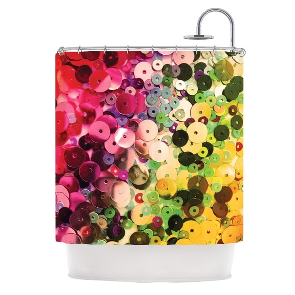 KESS InHouse Louise Machado Spots Multicolor Sparkle Shower Curtain (69x70)