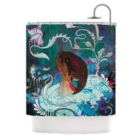 KESS InHouse Mat Miller Delicate Distraction Otter Teal Shower Curtain (69x70)