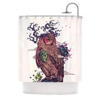 KESS InHouse Mat Miller Regrowth Natural Owl Shower Curtain (69x70)
