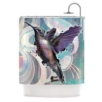 KESS InHouse Mat Miller Reaching Hummingbird Shower Curtain (69x70)