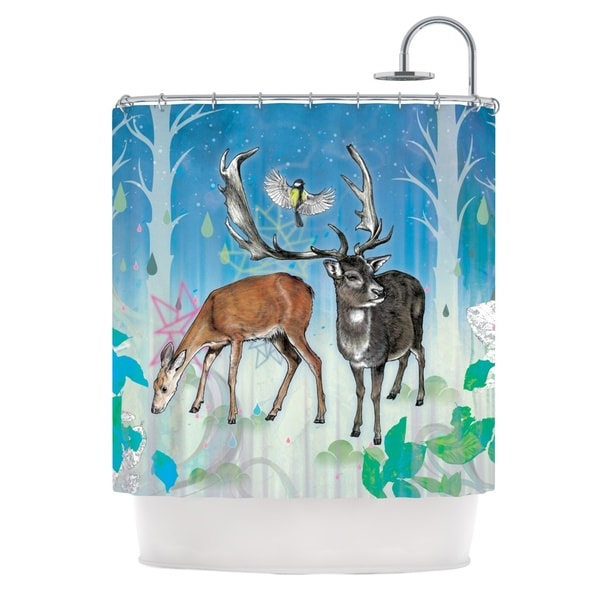 KESS InHouse Mat Miller Glade Shower Curtain (69x70)