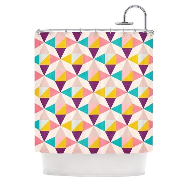 KESS InHouse Louise Machado Amethyst Purple Teal Shower Curtain (69x70)