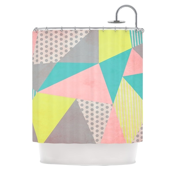 KESS InHouse Louise Machado Geometric Pastel Shower Curtain (69x70)