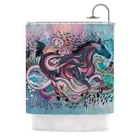 KESS InHouse Mat Miller Poetry in Motion Shower Curtain (69x70)