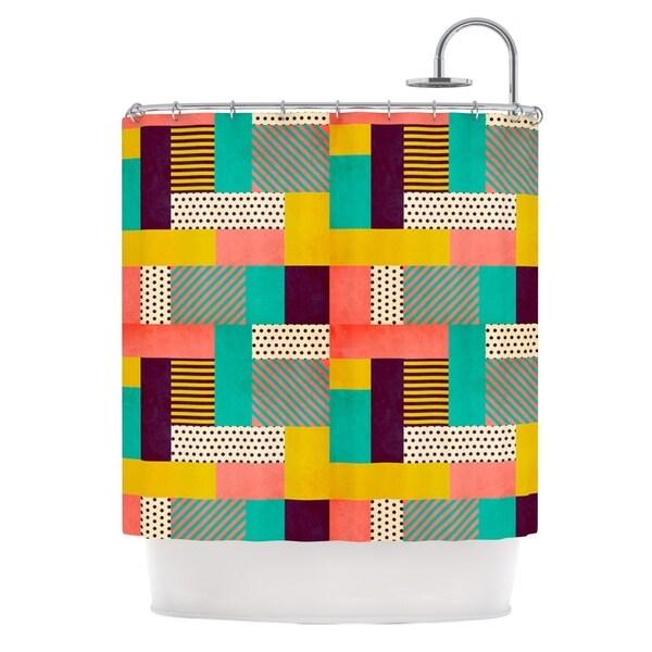 KESS InHouse Louise Machado Geometric Love Pattern Abstract Shower Curtain (69x70)