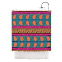 KESS InHouse Nandita Singh Bohemian V Orange Blue Shower Curtain (69x70)