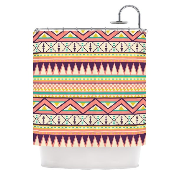 KESS InHouse Louise Machado Ethnic Love Tribal Geometric Shower Curtain (69x70)