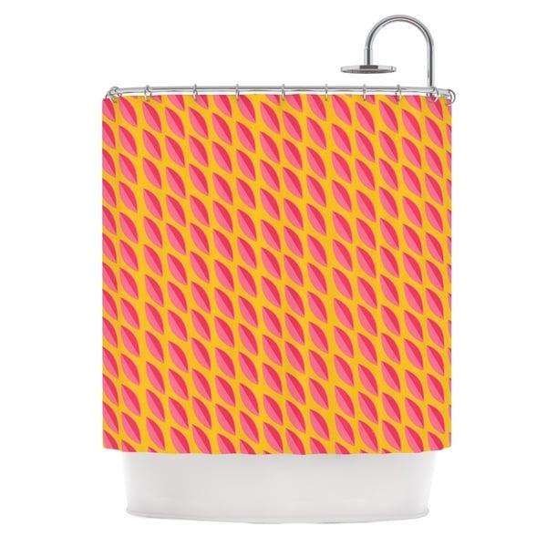 KESS InHouse Michelle Drew Seed Pods Magenta Orange Shower Curtain (69x70)