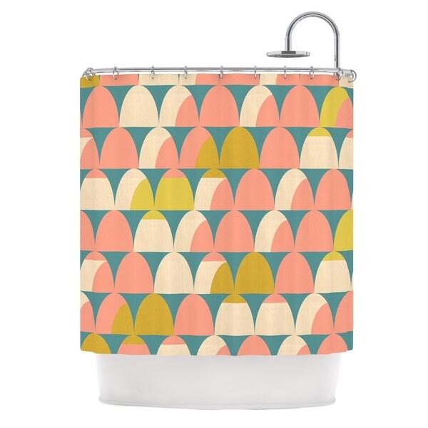 KESS InHouse Michelle Drew Scallops Pink Teal Shower Curtain (69x70)
