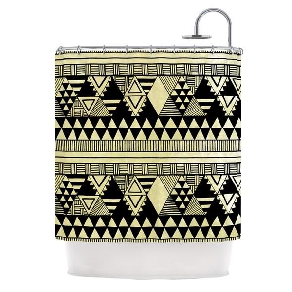KESS InHouse Louise Machado Ethnic Chic Tan Black Shower Curtain (69x70)