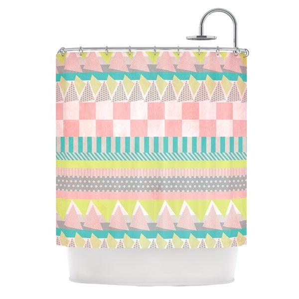 KESS InHouse Louise Machado Luna Pastel Pattern Shower Curtain (69x70)