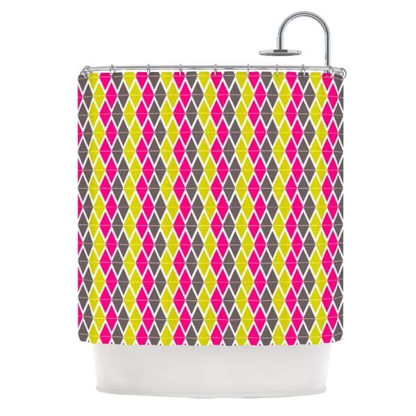 KESS InHouse Nandita Singh Bohemian Pink Yellow Shower Curtain (69x70)
