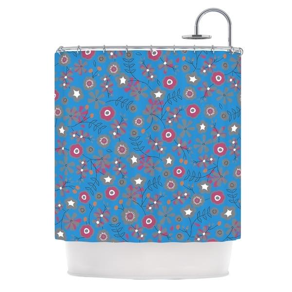 KESS InHouse Michelle Drew Meadow Navy Paisley Shower Curtain (69x70)